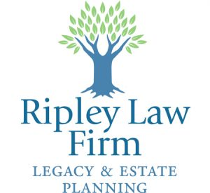 Ripley Law Firm logo design by Laurel Black Design