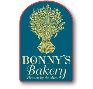 Bonny's Bakery logo design by Laurel Black Design