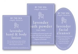 By The Sea packaging design by Laurel Black Design