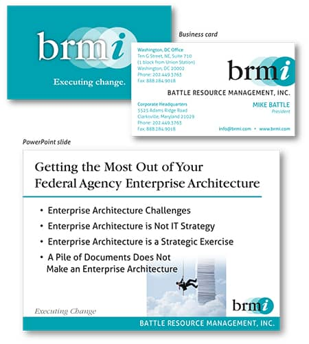 BRMI marketing materials by Laurel Black Design