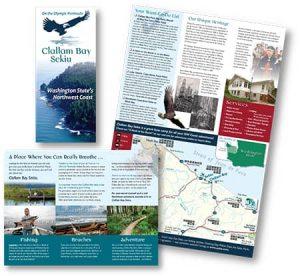 Clallam Bay brochure by Laurel Black Design