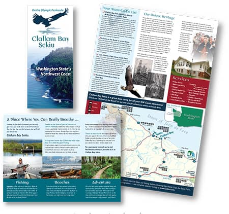 Clallam Bay brochure by Laurel Black Design