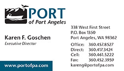 Port of Port Angeles business cards by Laurel Black design