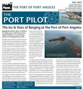 Port of Port Angeles Pilot Newsletter designed by Laurel Black Design