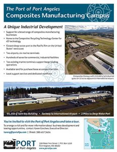 Port of Port Angeles trade show handout by Laurel Black Design