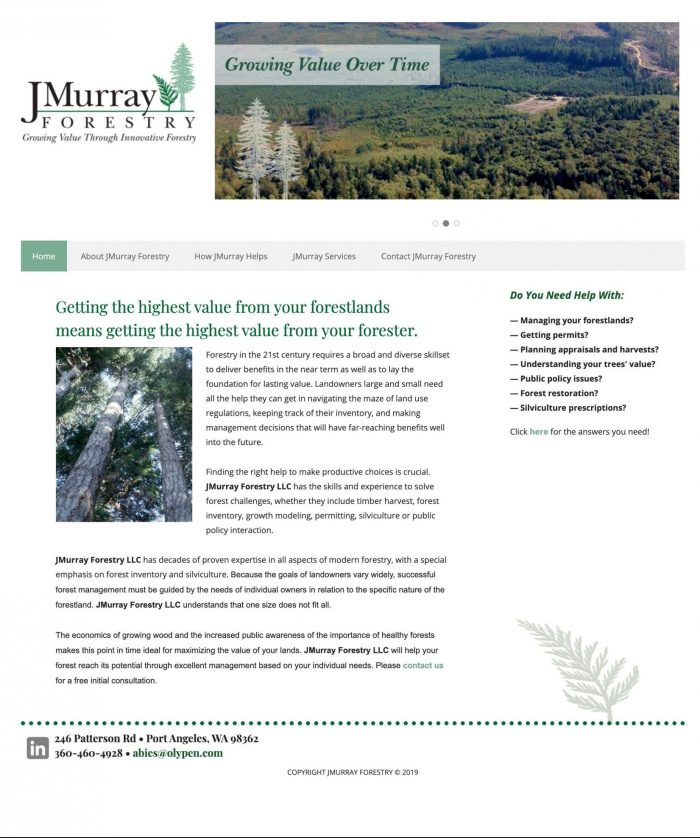 J. Murray Forestry website