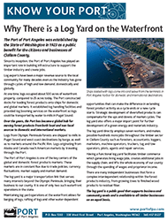 Why There is a Log yard on the Waterfront