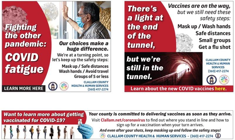 Clallam County Health & Human Services COVID-19 campaign